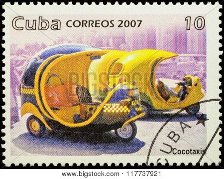 Cocotaxi On Postage Stamp