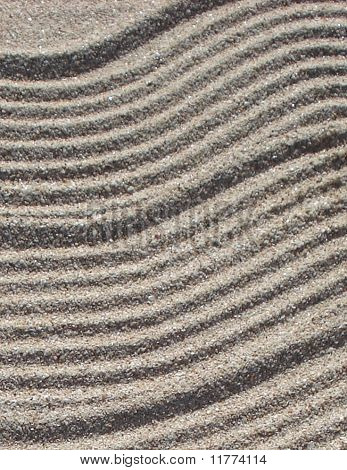 Background of Wavy Beach Sand