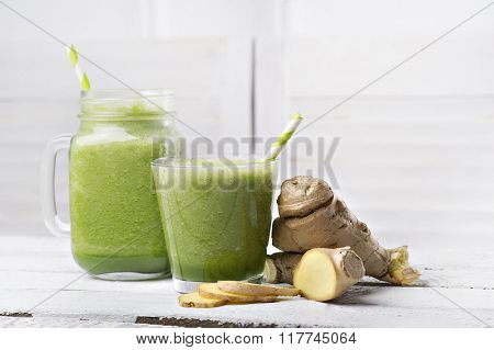Healthy drink. Delicious smoothie on the table
