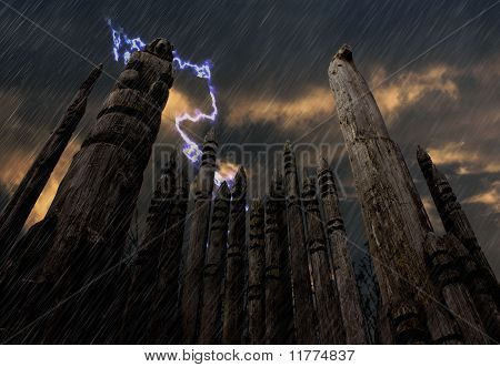 Lightening and Totem Poles