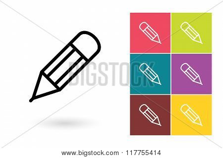 Pencil vector icon or edit symbol