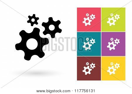 Gear vector icon or gear symbol