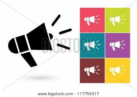 Megaphone vector icon or megaphone symbol