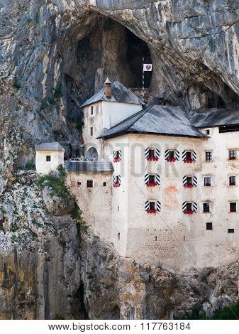 Predjama Castle built in the cave