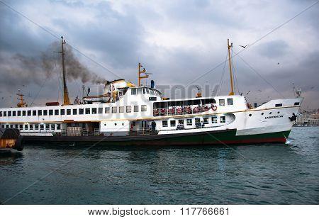 White ferry.