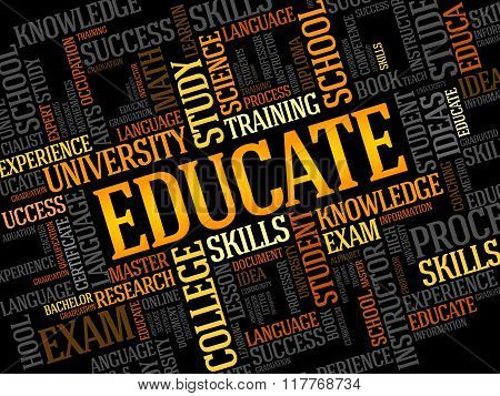 Educate. Word Collage