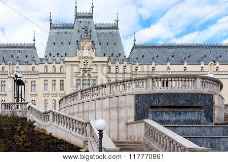 Beautiful palace in Iasi city, Romania