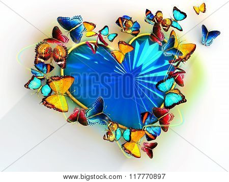 Heart With Butterflies For Valentines Day