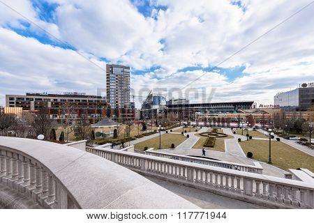 IASI, ROMANIA - FEBRUARY 2016: A view on Iasi business center