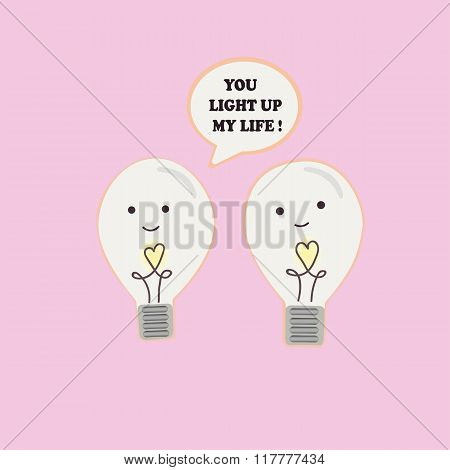 Vector illustration of a couple incandescent lamps