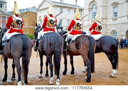 For    The Queen In London England  Cavalry