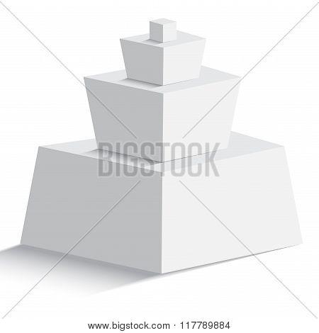 Isolated Pyramid On White Background