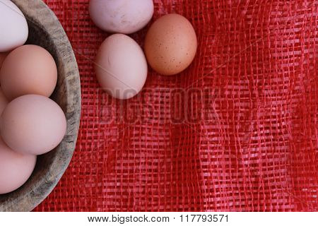 Eggs and village life with organic foods