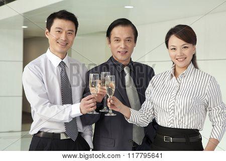 Businesspeople Toasting