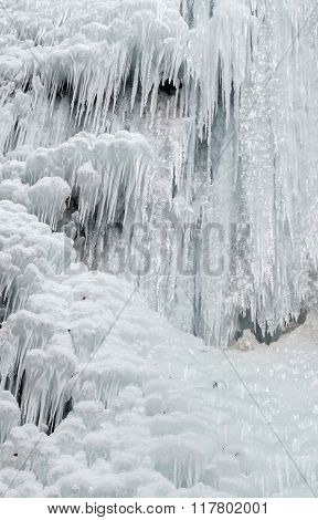 Icefall - frozen waterfall