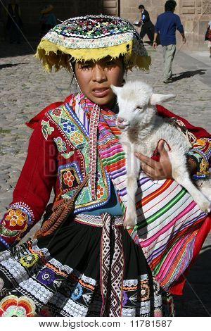 Indigenous Girl In Cusco, Peru