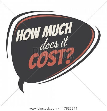 how much does it cost retro speech balloon