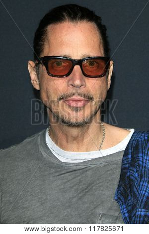 LOS ANGELES - FEB 10: Chris Cornell arriving at the Saint Laurent fashion show at the Hollywood Palladium on February 10, 2016 in Los Angeles, California