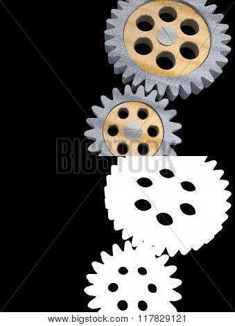 gear alpha channel transparency transparent background metal mechanic machine engineering design