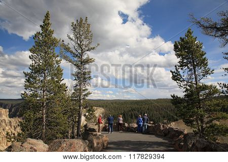 Yellowstone Park Tourists