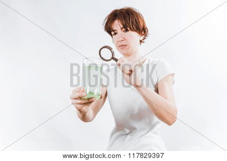 Person With Water Glass