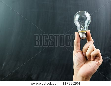 Innovation With Hand Hold Light Bulb