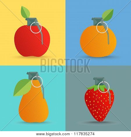 Bomb With Fruits