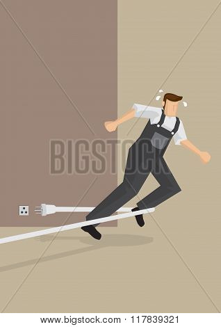 Tripping Accident Vector Illustration
