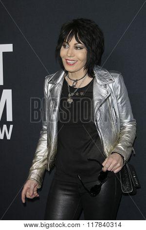 LOS ANGELES - FEB 10:  Joan Jett at the SAINT LAURENT At The Palladium at the Hollywood Palladium on February 10, 2016 in Los Angeles, CA