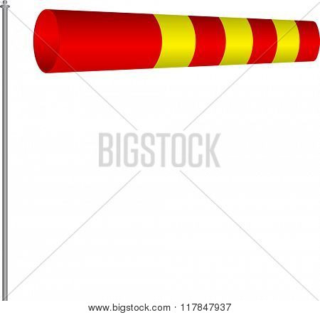 Windsock Wind Indicator Raster Illustration