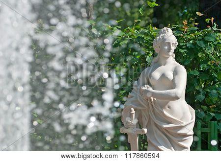 Saint-Petersburg. Russia. Allegory of Justice Sculpture
