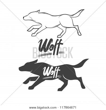 Wolf Logo Lettering