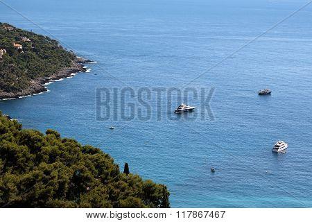 Picturesque Mountain Scene And Seascape