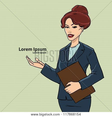 Businesswoman Pointed Image