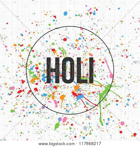 Holi Banner Template for Indian Festival of Colors