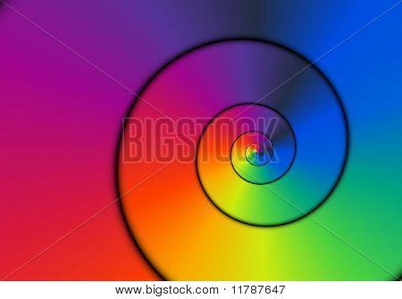Neon Metallic Spiral