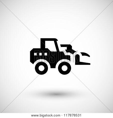 Hay loader tractor icon