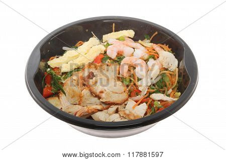 Chinese Microwave Meal Isolated