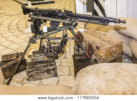 German Machine-gun Nest During The 2Nd World War