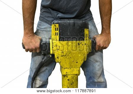 Man Working With Jackhammer