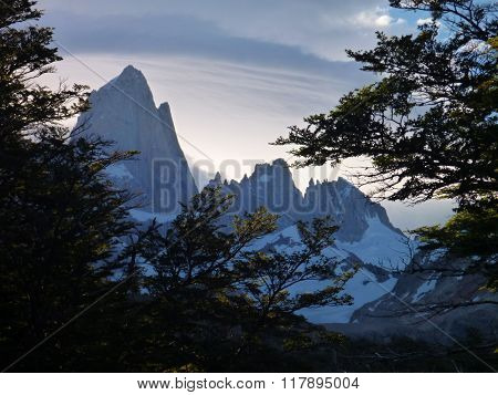 Evening View Of Fitz Roy Peak In Park Los Glaciares In Argentina