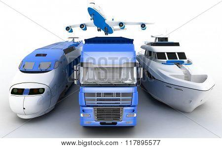 Transport. 3d render illustration