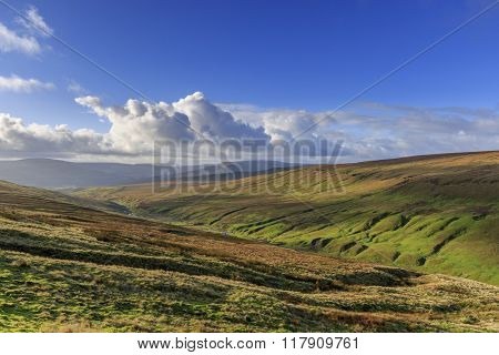 The beautiful Yorkshire dales on a sunny day. UK