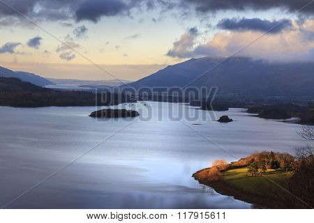 A view of Derwent Water in the Lake District