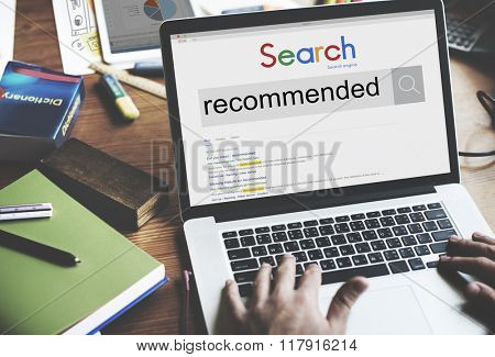 Recommended Recommendation Satisfaction Offer Concept poster