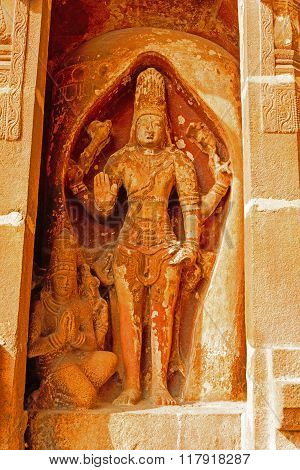 Statue of Lord Shiva at Brihadeeswara temple at Thanjavur