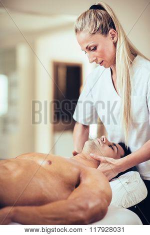 Sports Massage - Massaging Neck