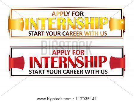Stamp for Internship recruitment.