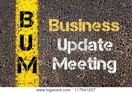 Business Acronym Bum Business Update Meeting