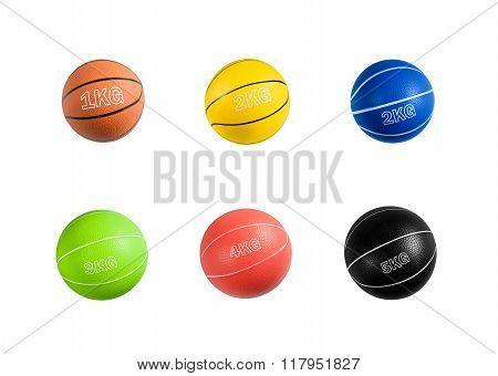 Set of medicine balls